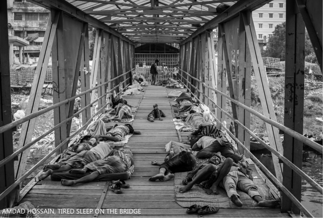 Amdad Hossain, Tired sleep on the bridge.png